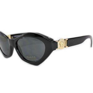 Versace MOD 4334 Black Gold Sunglasses Medusa